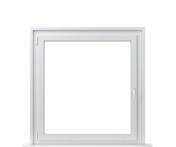Kunststofffenster mit Doppelverglasung im Holzhaus